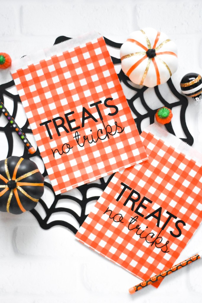 Make Your Own DIY Halloween Treat Bags for a Halloween Party with Cricut Iron On and the Cricut Maker - Pineapple Paper Co.