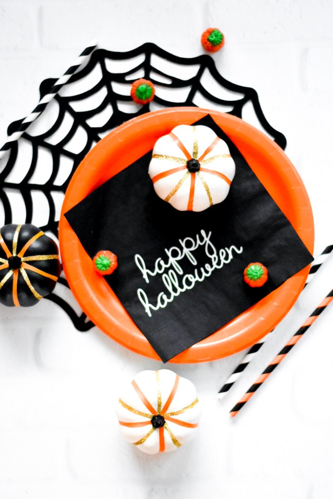 Make Your Own Kids Halloween Party Decor - Trick or Treat Halloween Party with Cricut Maker - Pineapple Paper Co.