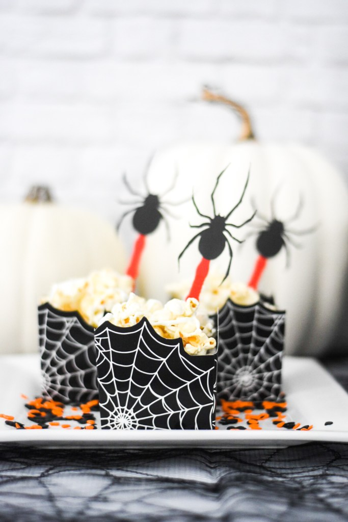 Make Your Own DIY Spider Party Decorations for Halloween with Cricut, Martha Stewart, and Michaels by Pineapple Paper Co.