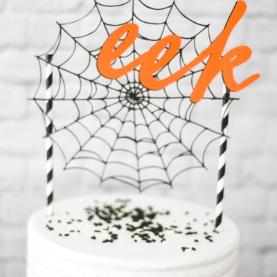 Make a Halloween Cake Topper with the Cricut