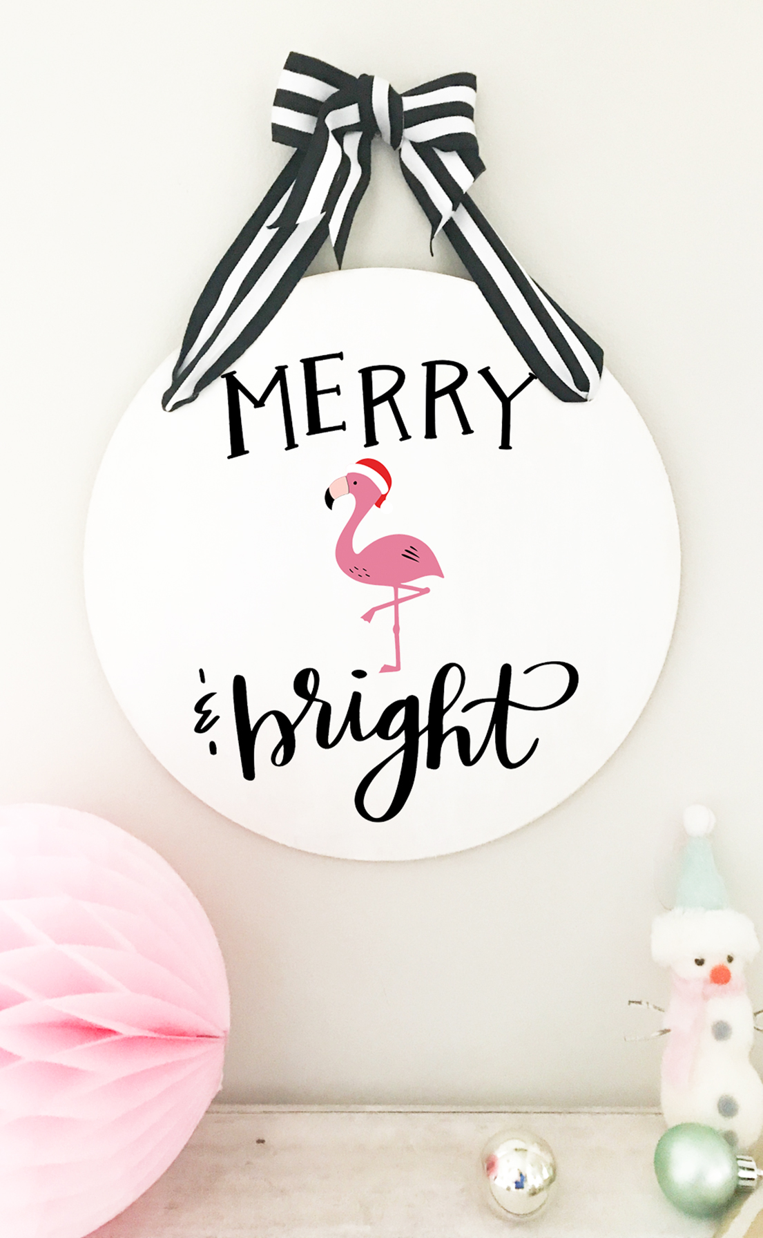 Diy Merry And Bright Sign Free Christmas Svg Pineapple Paper Co