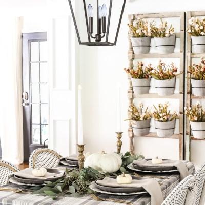Farmhouse Thanksgiving Decor Ideas for your Table