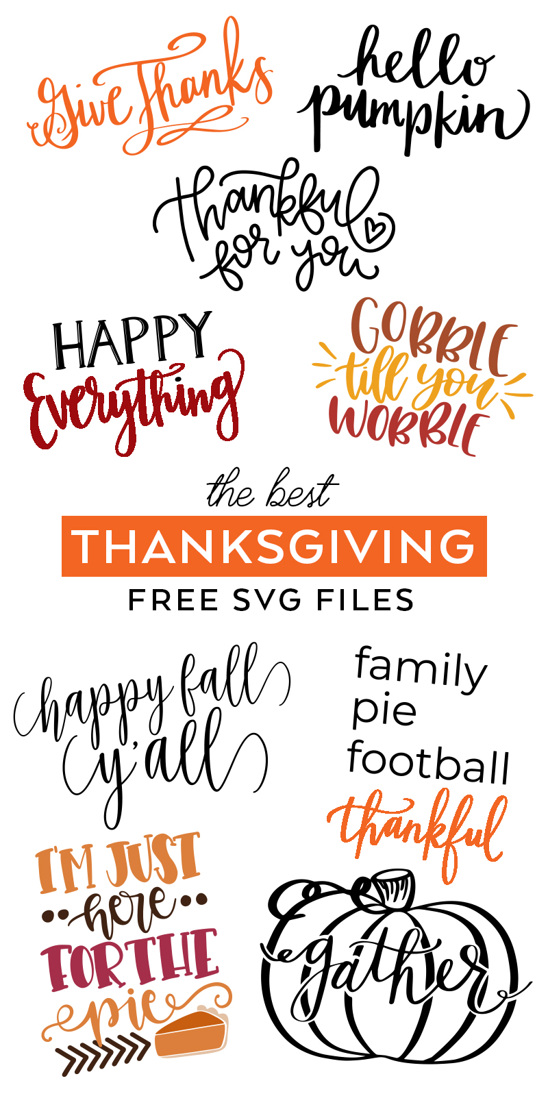 Download Thankful Thanksgiving Svg Cutting File PNG