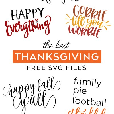 The Best Free Thanksgiving SVG Cut Files