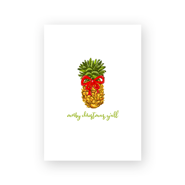 graphic relating to Pineapple Printable referred to as Pineapple Xmas - Printable Xmas Card - Pineapple Paper Co.