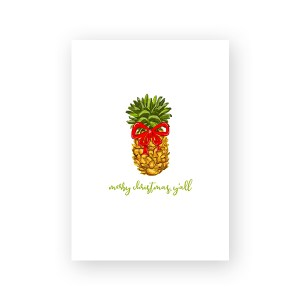 Merry Christmas Y'all Pineapple Printable Christmas Card by Pineapple Paper Co.
