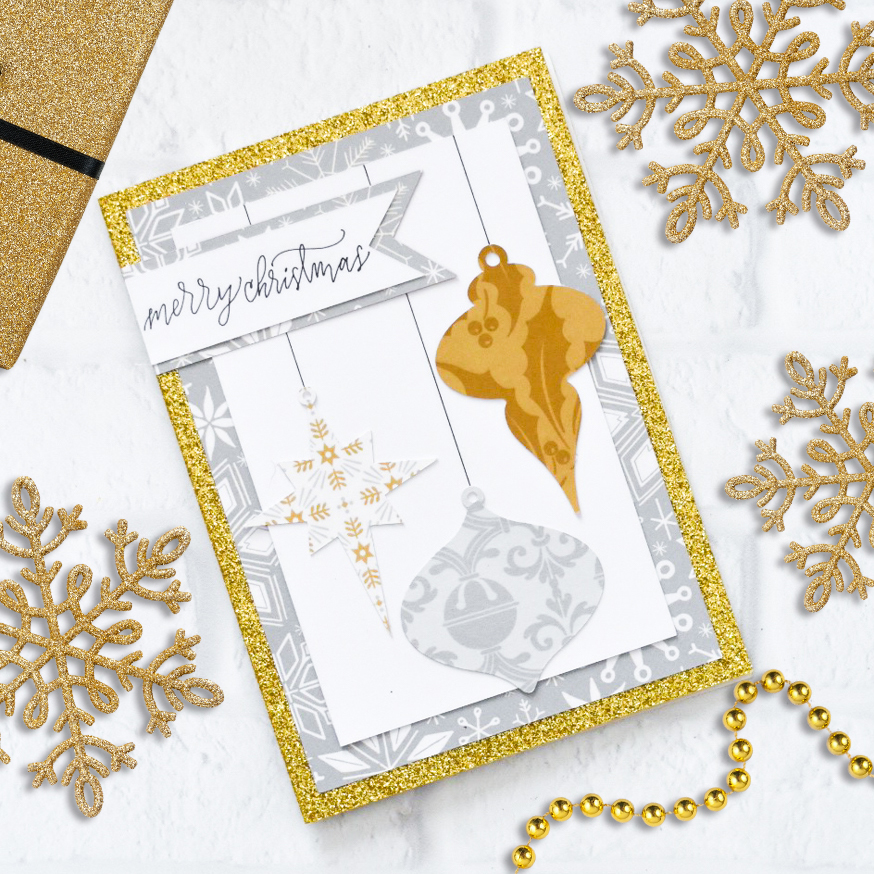 Make Handmade Christmas Cards with your Cricut Maker by Pineapple Paper Co.