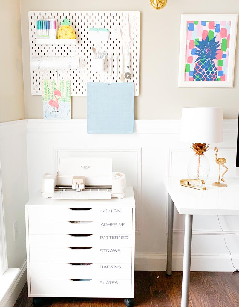 Cricut Craft Room Organization Ideas Pineapple Paper Co
