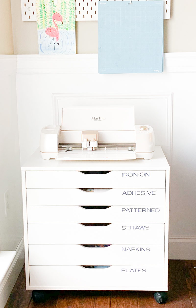 Martha Stewart Cricut on Craft Room Drawer Ikea Hack - Cricut Craft Room Organization Ideas, Tips, and Tricks by Pineapple Paper Co.