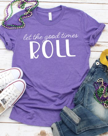 Free SVG Cut File to Make Mardi Gras Shirts by Pineapple Paper Co.