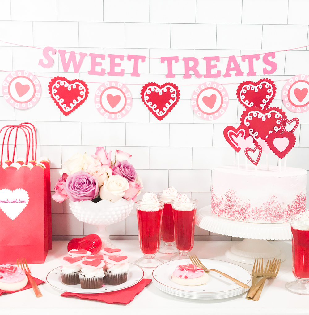 42dfcdcde Red White and Pink DIY Heart Valentine s Day Party Decor by Pineapple Paper  ...