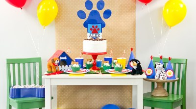 DIY Puppy Party and Paw Patrol Party Ideas made with the Cricut Maker for Puppy Birthday Party by Pineapple Paper Co.