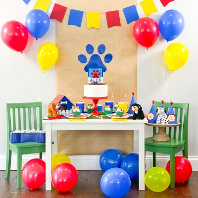 DIY Paw Patrol Birthday Party Ideas with Cricut