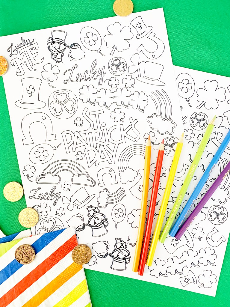 St. Patrick's Day Coloring Pages by Pineapple Paper Co.