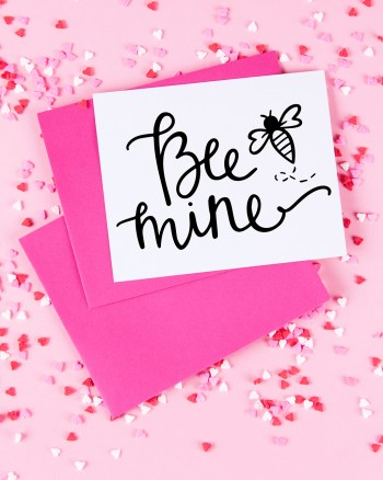 Bee Mine Handmade Valentine's Day Card with Free SVG by Pineapple Paper Co.
