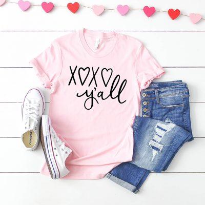 Free XOXO Y'all Valentine's Day SVG