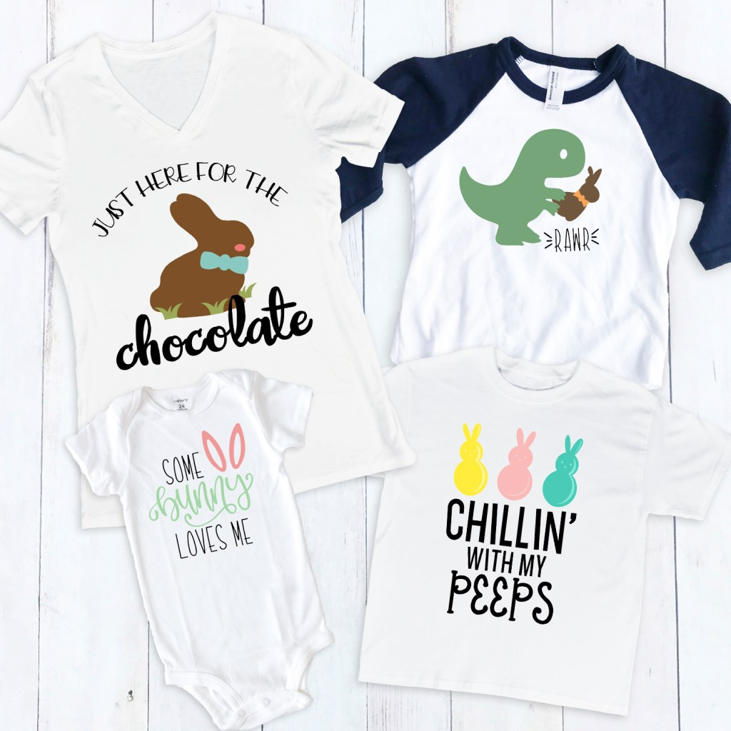 DIY Easter Shirt Designs to Make with your Cricut by Pineapple Paper Co.