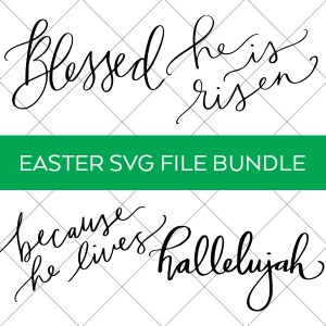 Religious Easter SVG File Bundle for Cricut and Silhouette on Grid Background