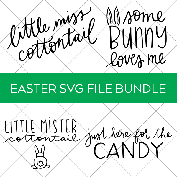 Easter SVG Files on Grid Background by Pineapple Paper Co.