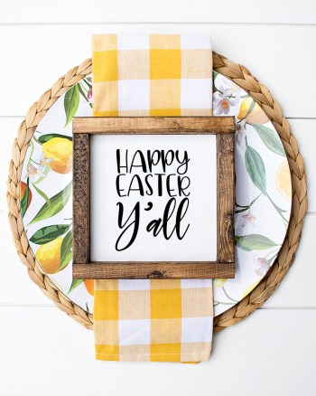 Happy Easter Y'all FREE Easter SVG and Small Wooden Sign Cricut - Pineapple Paper Co.