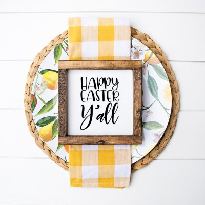 Free Happy Easter Y'all SVG to Make Easter Decorations