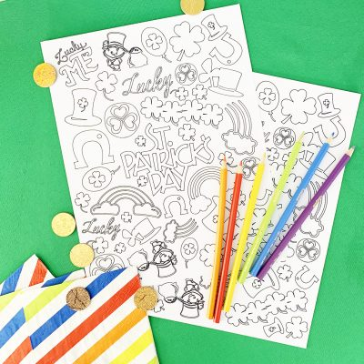 DIY St. Patrick's Day Coloring Page