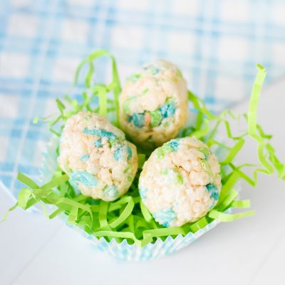 Dinosaur Egg Rice Krispie Treats