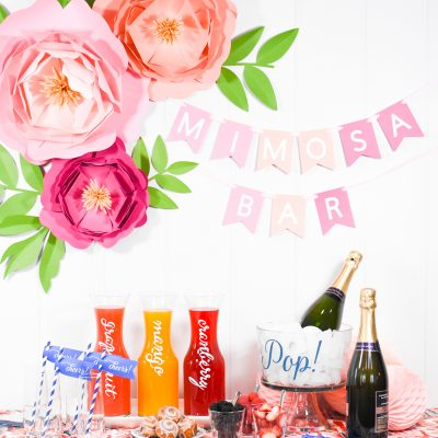 How to Set Up a DIY Mimosa Bar with Martha Stewart and Cricut