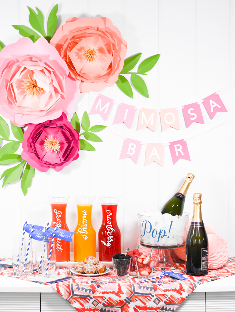 picture about Free Printable Mimosa Bar Sign referred to as How toward Mounted Up a Do-it-yourself Mimosa Bar - Pineapple Paper Co.