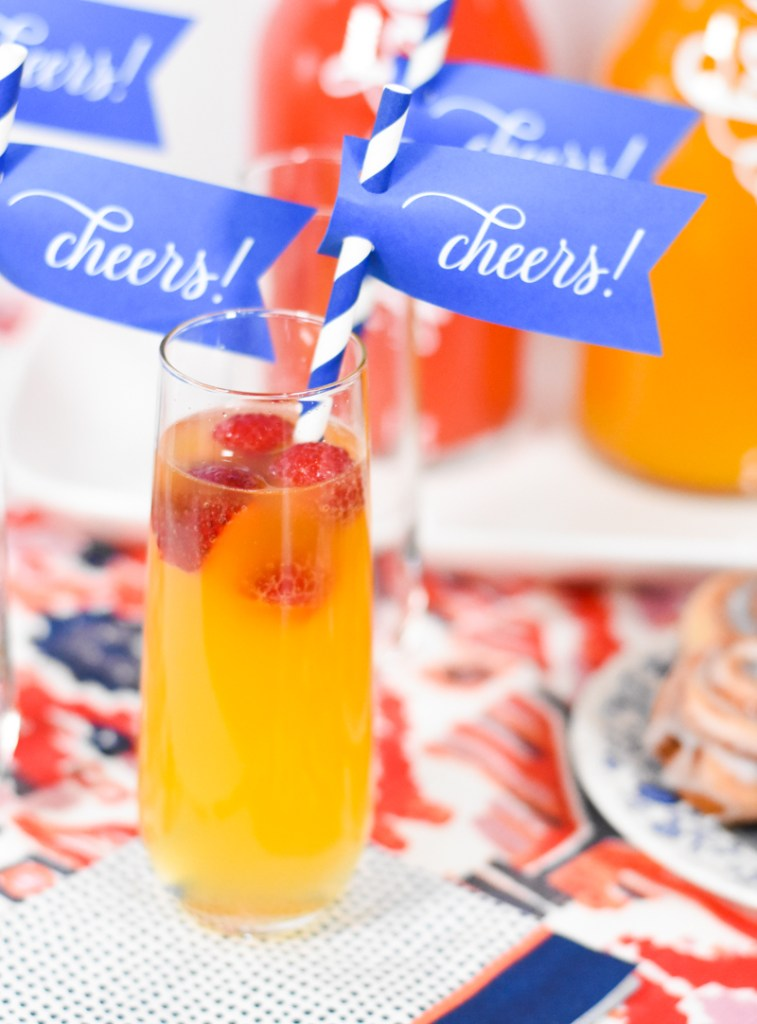 DIY Mimosa Bar with Simple Ingredients and How to Make Mimosa Bar Decorations with your Cricut by Pineapple Paper Co.