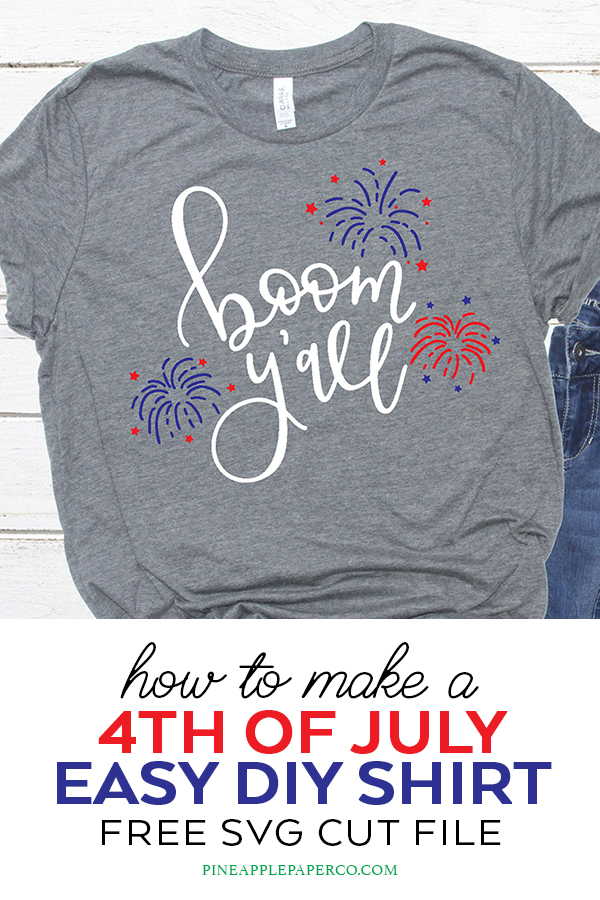 DIY 4th of July Shirt with Free 4th of July SVG for Cricut and Silhouette