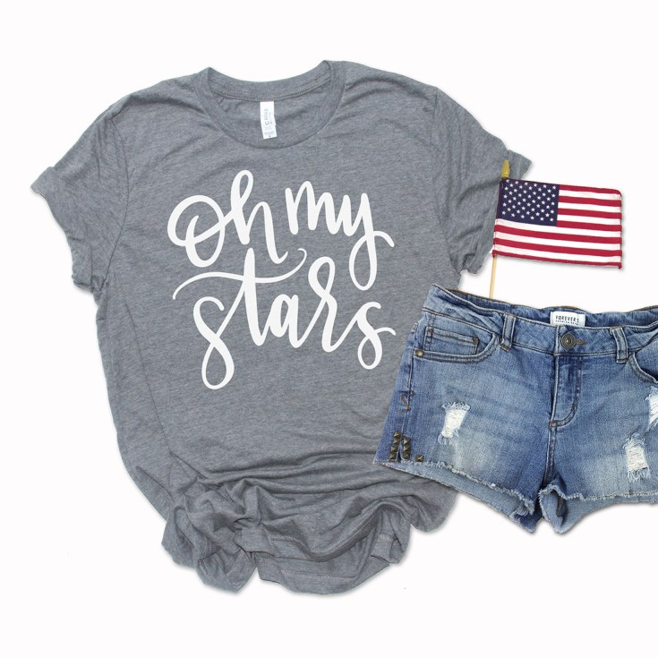 Free Oh My Stars SVG to Make a DIY 4th of July Shirt
