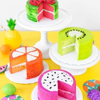 Fabulous Tutti Frutti Birthday Cakes for a Two-tti Fruity Party!