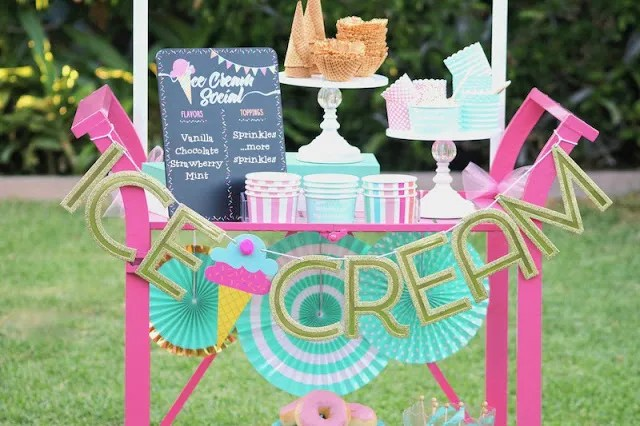 LAURA'S little PARTY: Simple Ice Cream Social ideas they'll scream for!