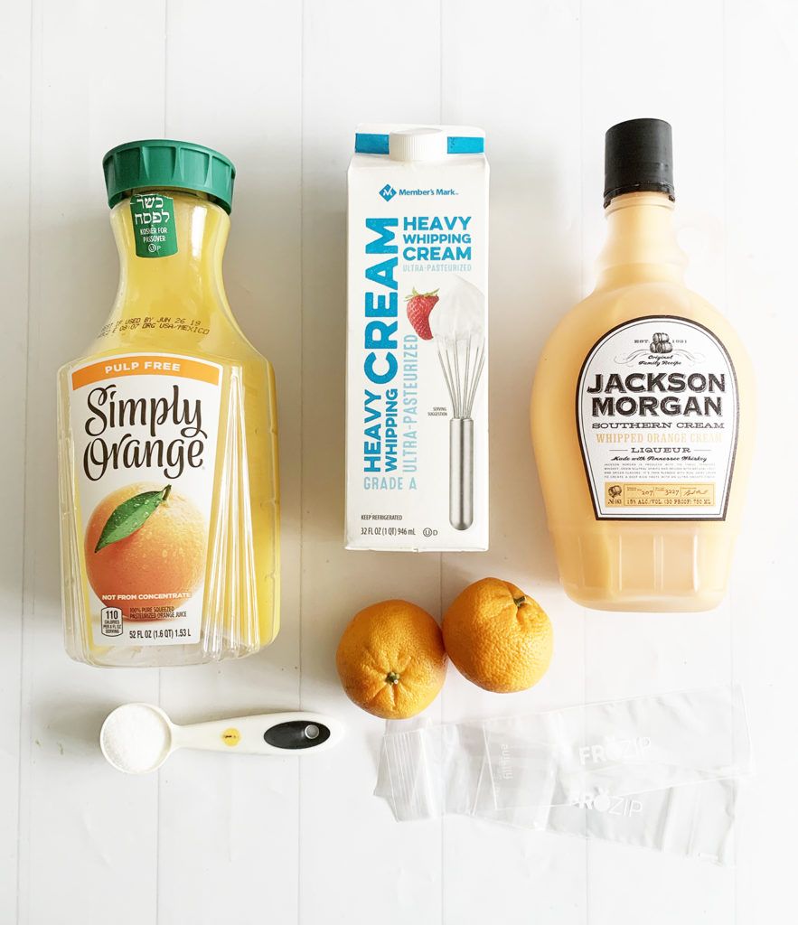 Easy Orange Dreamsicle Alcoholic Popsicle Recipe with Jackson Morgan Southern Cream by Pineapple Paper Co.