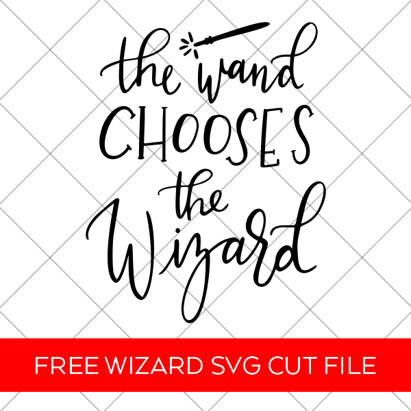 Free Harry Potter Wand SVG for Cricut and Silhouette DIY Family Vacation Shirts by Pineapple Paper Co.