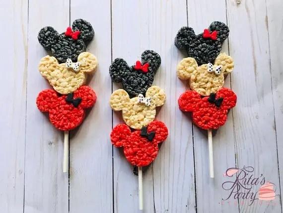 Minnie Mouse Rice Crispy Krispie Treats