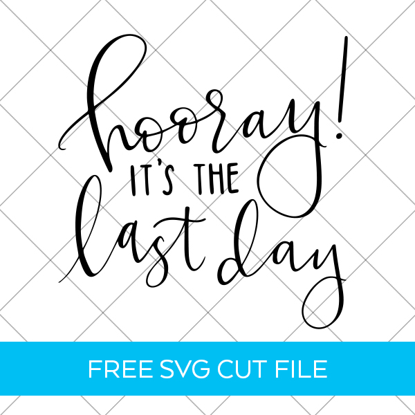 Make a Last Day of School Teacher Shirt with a Free SVG Cut File by Pineapple Paper Co.