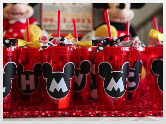 Minnie Mouse Personalized Party Favors