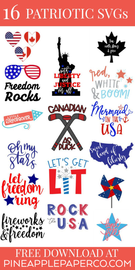 Free Oh My Stars SVG for DIY Patriotic Shirts with Cricut and Silhouette by Pineapple Paper Co.
