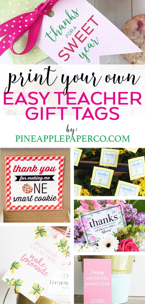 Free Teacher Appreciation Printables by Pineapple Paper Co. for Teacher Appreciation Week and Teacher Gift Ideas