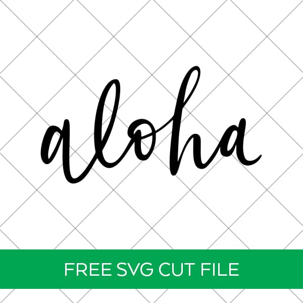Free Aloha SVG for Beach Shirts, Signs, and Summer Crafts by Pineapple Paper Co.