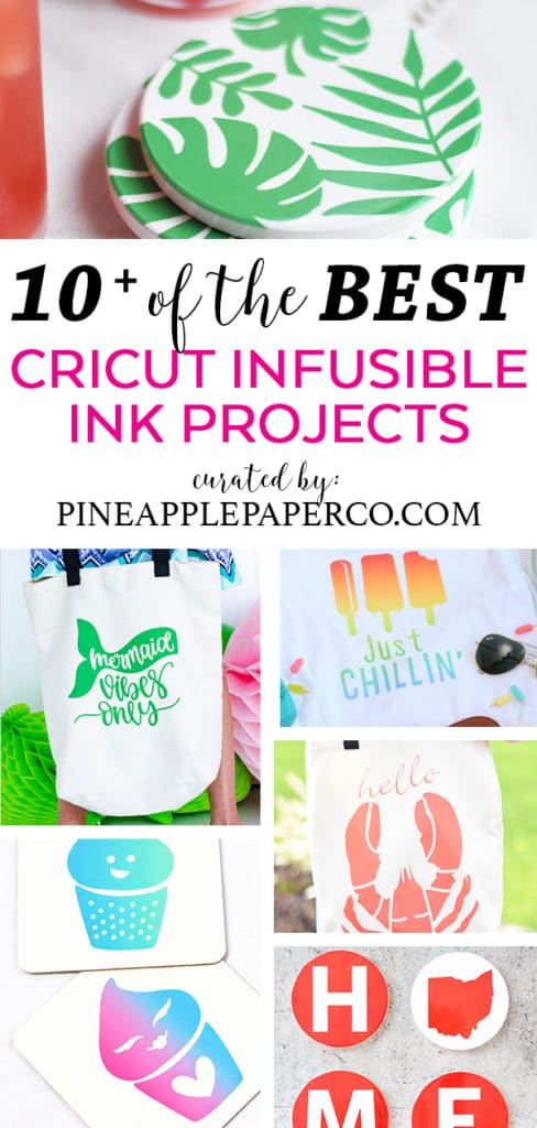 10+ Best Cricut Infusible Ink Projects curated by Pineapple Paper Co.