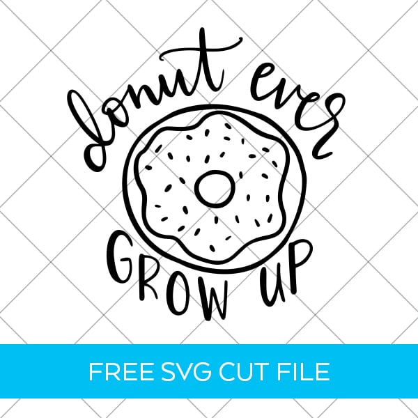 Donut SVG Cut File designed by Pineapple Paper Co.