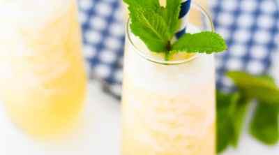 Frozen Peach Bellini Recipe by Pineapple Paper Co.