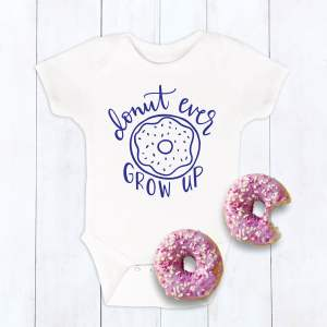 Donut SVG Cut File for Onesies and Shirts designed by Pineapple Paper Co.