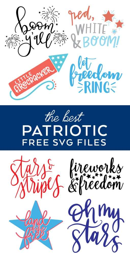 BEST Free 4th of July SVG Files for Patriotic Crafts curated by Pineapple Paper Co.