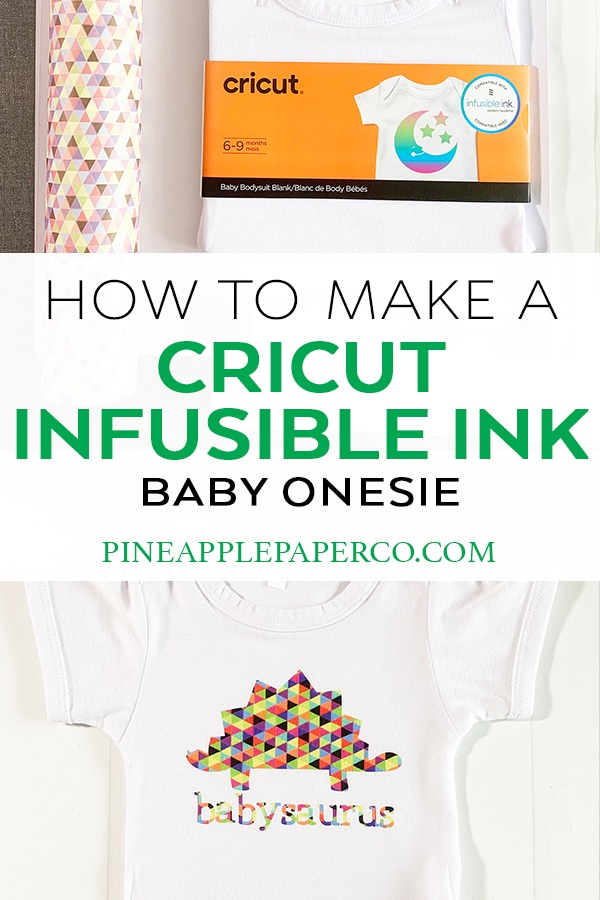 How to Make a Baby Onesie with Cricut Infusible Ink