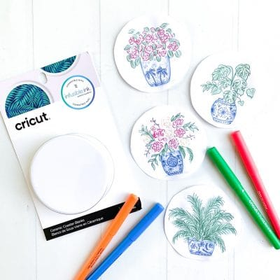 Watercolor Painting Ideas with Cricut Infusible Ink