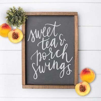 Free Sweet Tea & Porch Swings Southern SVG Cut File